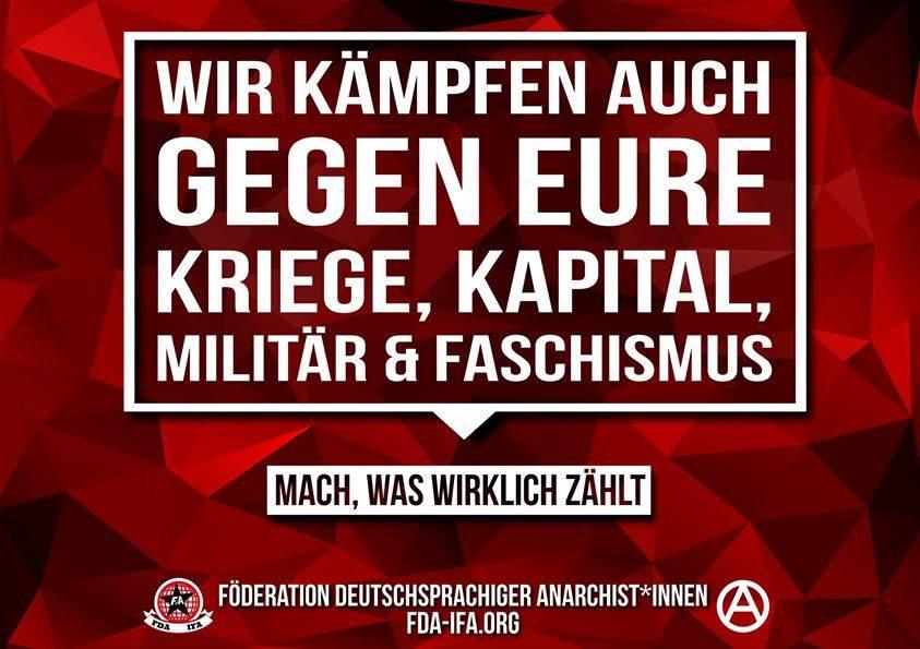 FdA-Sticker gegen die Bundeswehr